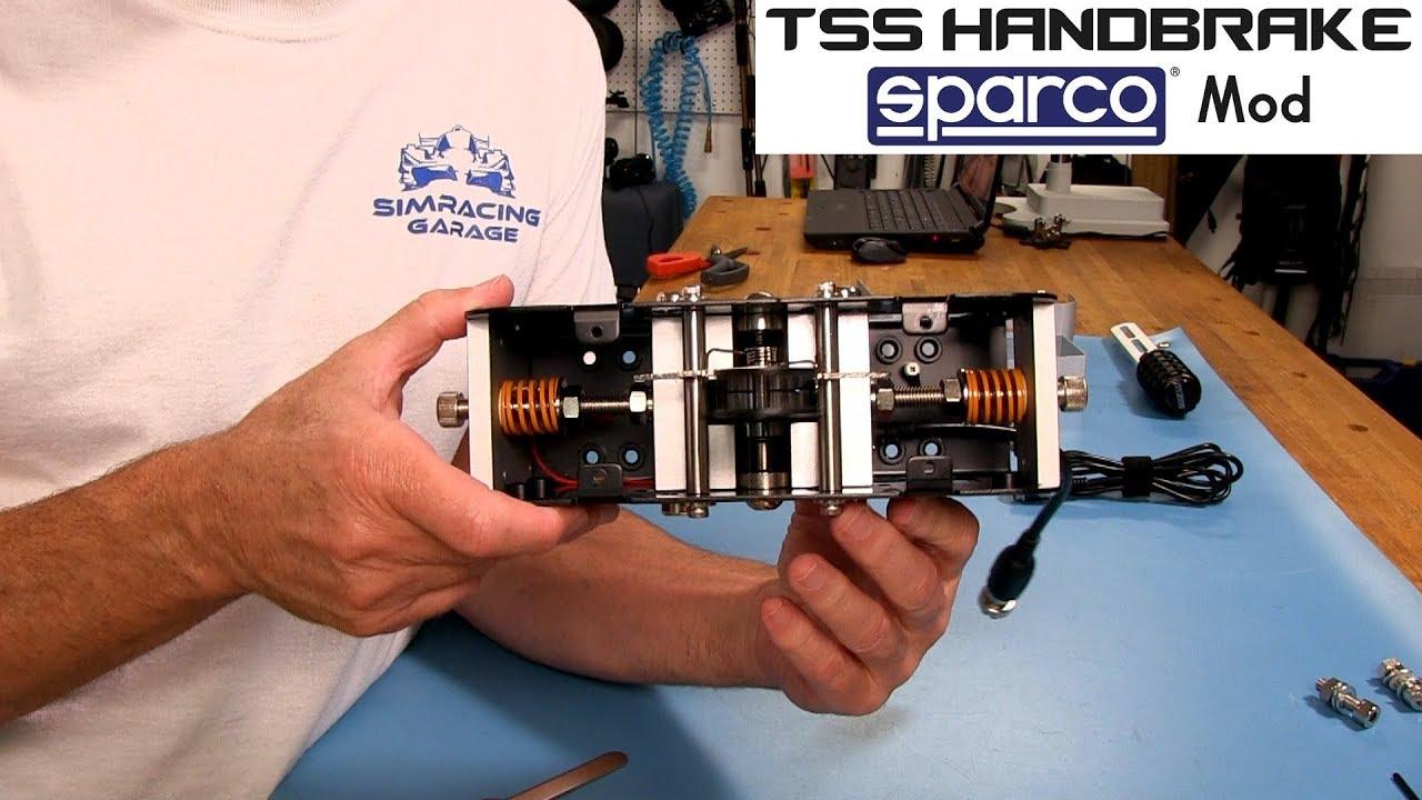 Thrusmaster TSS Handbrake Sparco Mod Review | Sim Racing Garage